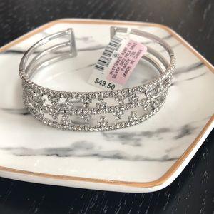 Inc Silver Flex Band Bracelet